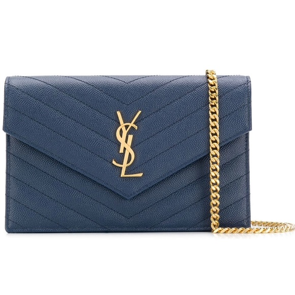 9934793c7887 SAINT LAURENT Monogram bag Navy Logo blue ysl. NWT. Yves Saint Laurent